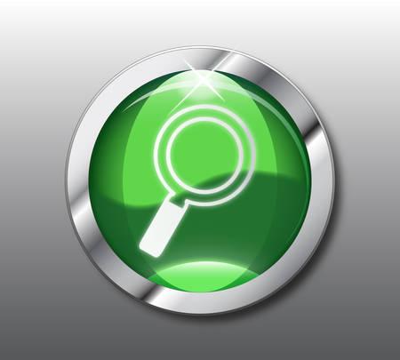 Green search button Stock Vector - 8509369