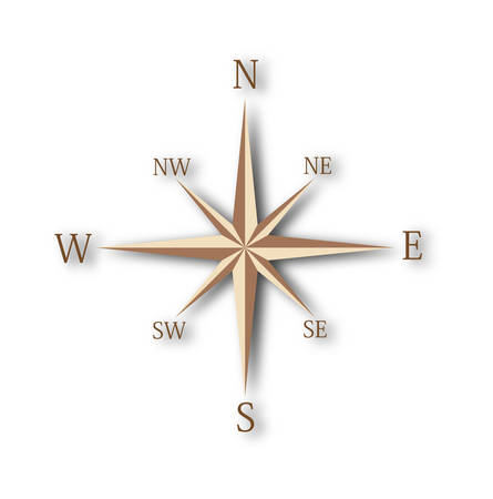 Wind rose compass Stock Vector - 8512166