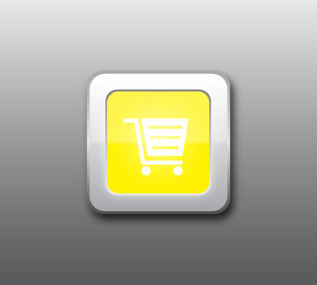 shop button: Yellow shop button vector