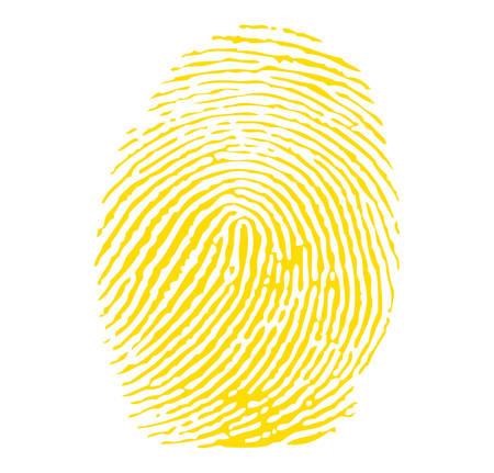Yellow fingerprint Ilustração