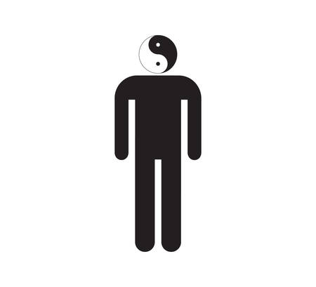 Ying and yang male sign Vector
