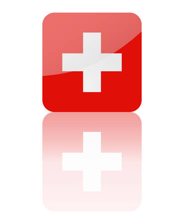 Swiss flag vector Stock Vector - 8512155