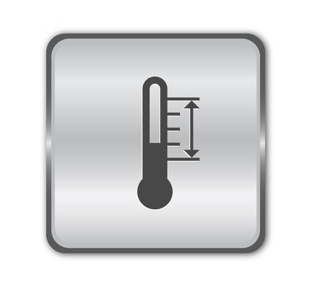 Thermomether chrome button Vector