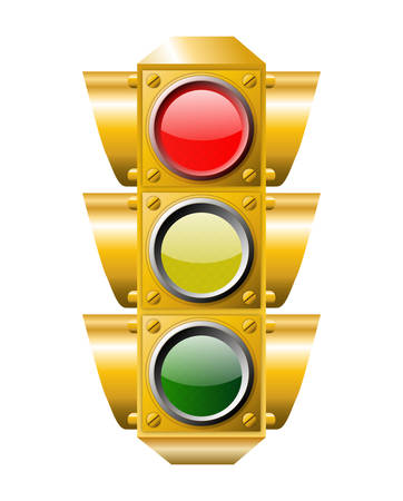 signal stop: Traffic light RED ON