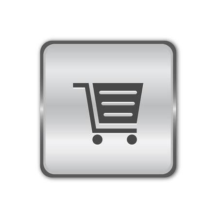 Shop chrome button Stock Vector - 8525400