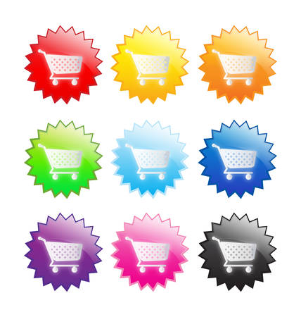 Stickers shoping Vector