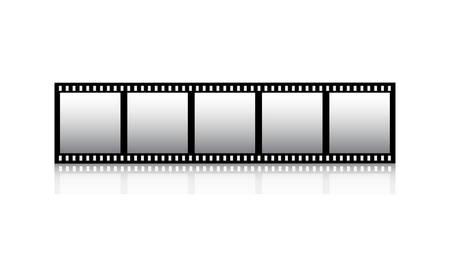 hollywood movie: Film strip Illustration