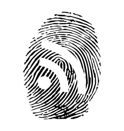 RSS fingerprint Stock Vector - 8525403