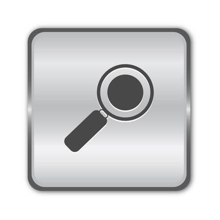 Search chrome button Stock Vector - 8525407