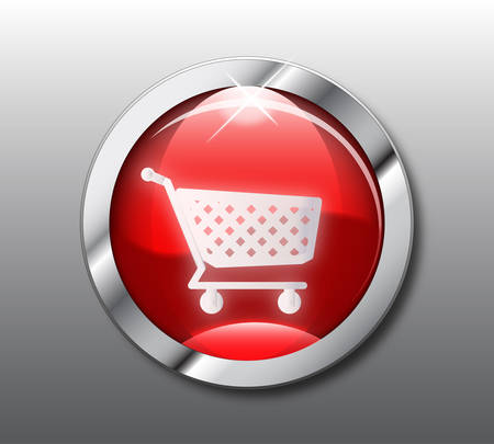 shoping: Red shoping button Illustration