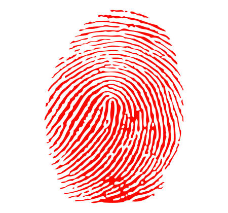 Red fingerprint Stock Vector - 8630100