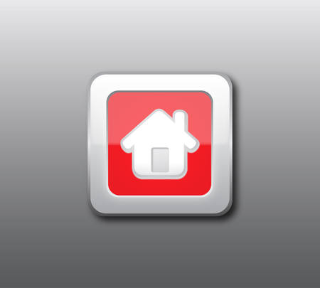 Red home button Stock Vector - 8630103