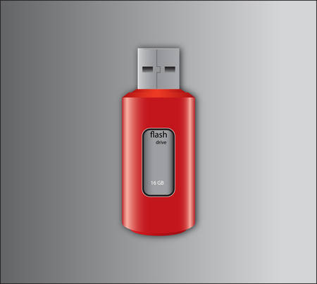 pendrive: Red pendrive Illustration