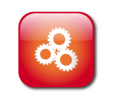 settings icon: Red settings sign