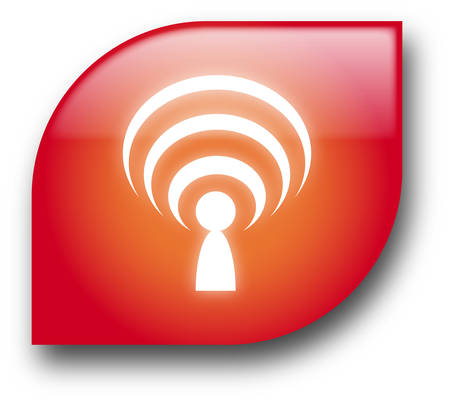 Red wireless button Vector