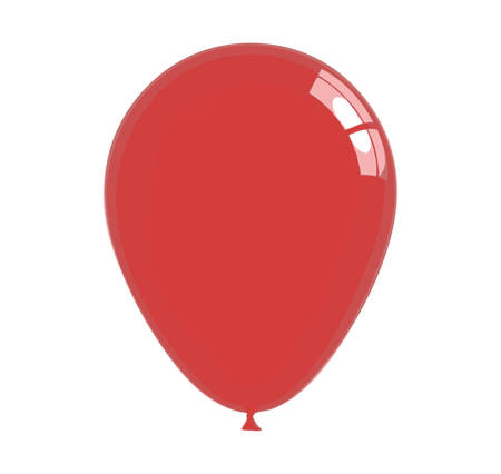 Red balloon isolated on white Vector