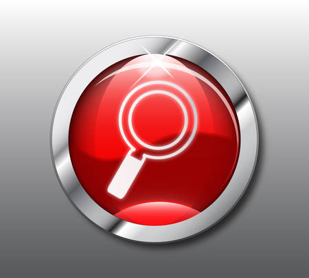 search button: Red search button  Illustration