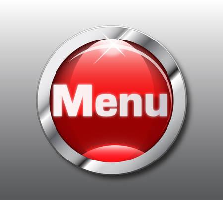 Red menu button  Stock Vector - 8977940