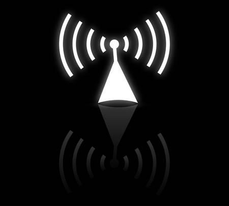 radio button: Antenna radio Vettoriali
