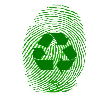 Recycle fingeprint Stock Vector - 8977927
