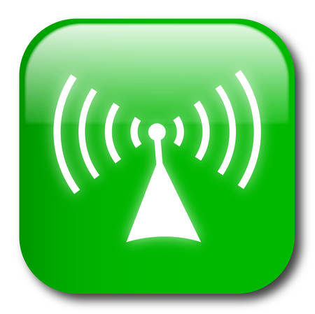 telecom: Green wireless button