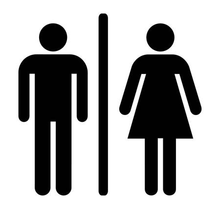 toilet door: Male and female sign