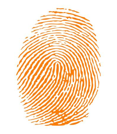 imprints: Orange fingerprint