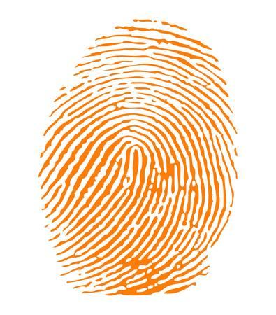 Orange fingerprint