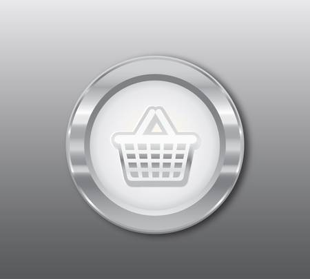 busyness: Silver basket button