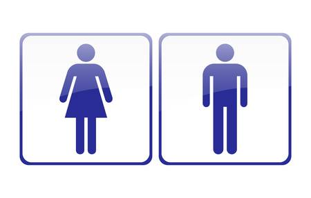 public: Male and female sign vector Illustration