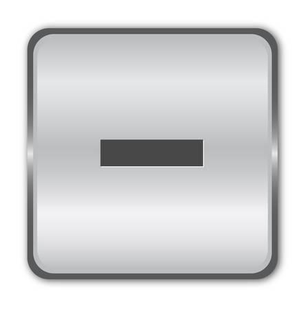 plus icon: Chrome minus button