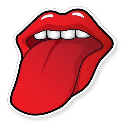 Mouth with a tongue Vector