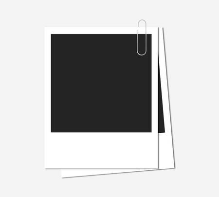 old fashioned: Polaroids-vector illustration