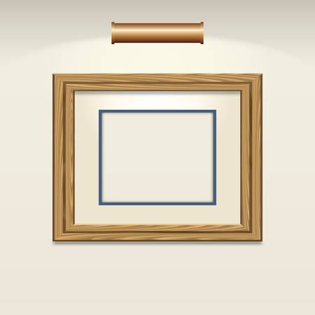 Empty picture frame Vector