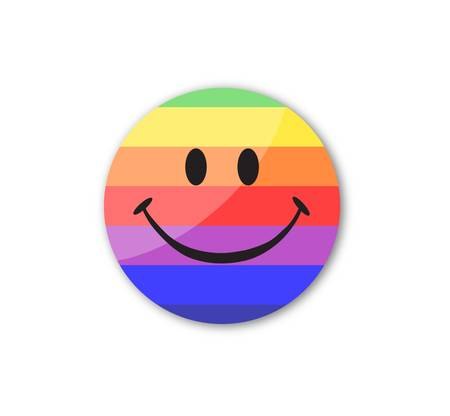 greet: Rainbow smile face Illustration