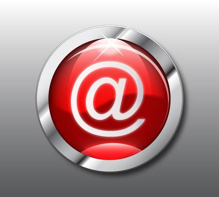 Red email button Stock Vector - 9356119