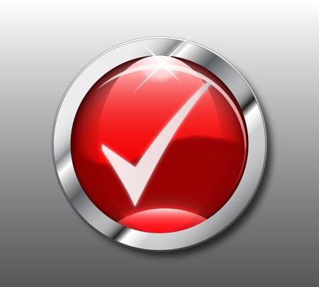 Red chack button Vector