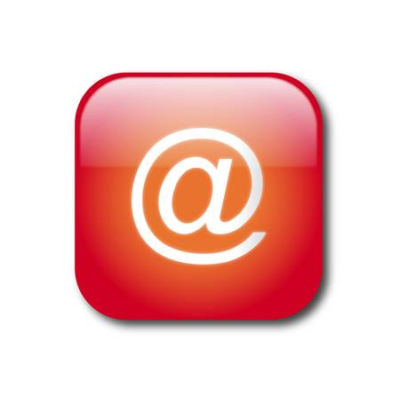 Red e-mail button Stock Vector - 9356093
