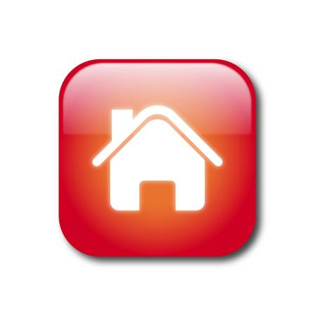 Red home button Stock Vector - 9356104