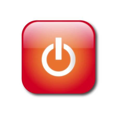 boton stop: Bot�n de encendido rojo