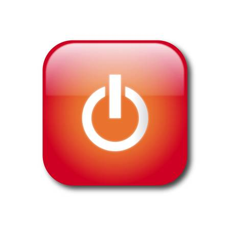 Red power button Stock Vector - 9356086