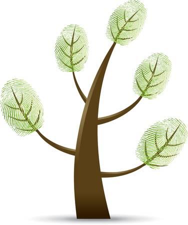 Fingerprint tree Stock Vector - 9368264