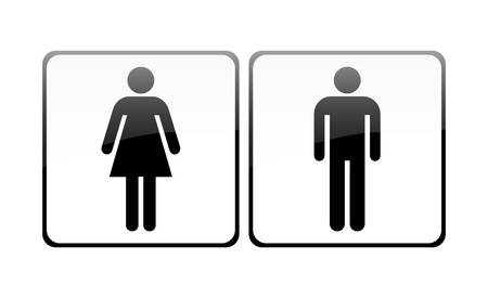 restroom sign: Male and female sign vector Illustration