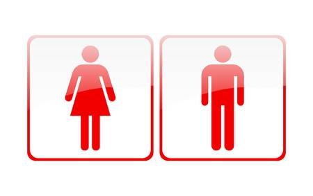 man and women wc sign: Male and female sign vector Illustration