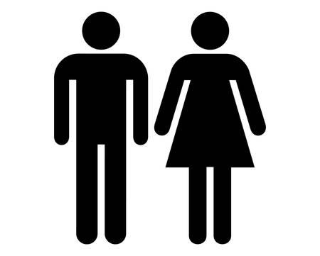 Signo de hombre y mujer de vectores Ilustración de vector