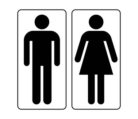lavatory: Male and female sign vector Illustration