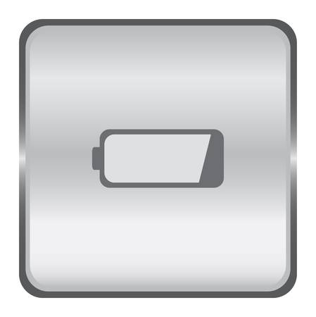 Chrome battery button Stock Vector - 9356042