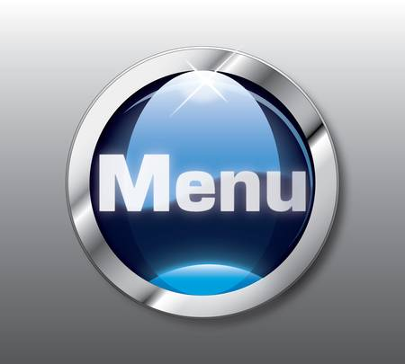 menu button: Blue menu button
