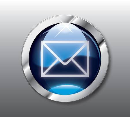Blue mail button Vector