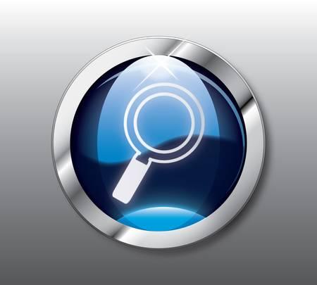 Blue search button Stock Vector - 9368298